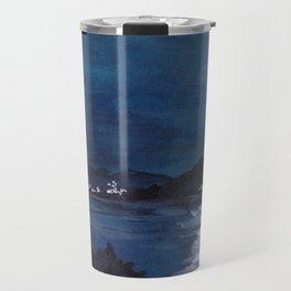 The Bay//Moon Reflections on water Travel Mug