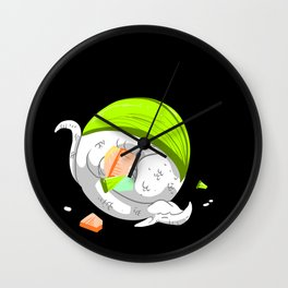 Sushi Dragons Wall Clock