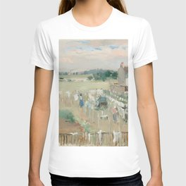 Hanging the Laundry out to Dry by Berthe Morisot T-shirt