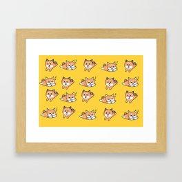Mustard Shiba Framed Art Print
