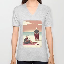 Day Trippers #10 - Sunset Unisex V-Neck