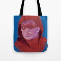 arsenal Tote Bags featuring Roy Harper by Sbrasi