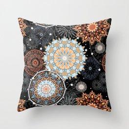 Citrus Mandala Throw Pillow
