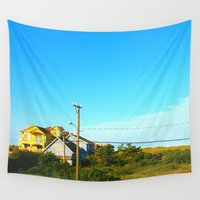 north carolina Wall Tapestries featuring Nags Head, Outer Banks, North Carolina by Philippe Gerber
