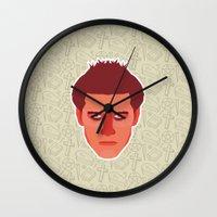 buffy the vampire slayer Wall Clocks featuring Angel - Buffy the Vampire Slayer by Kuki
