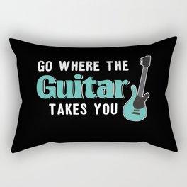 Go Where The Guitar Takes You Rectangular Pillow