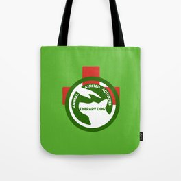 Animal Assisted Activities  - THERAPY DOG logo 2 Tote Bag