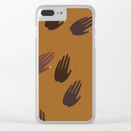 Melanin Hands Clear iPhone Case