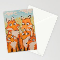 Fox Family Stationery Cards