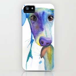Chase (the Italian Greyhound) iPhone Case