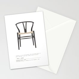 Wishbone Chair - Black Stationery Cards