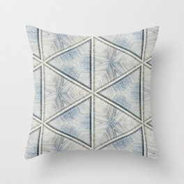 Powder Blue Equilaterals Throw Pillow