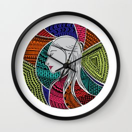 Geometric Girl Wall Clock