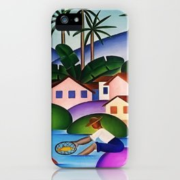 Classical Masterpiece 'An Angler' by Tarsila do Amaral iPhone Case