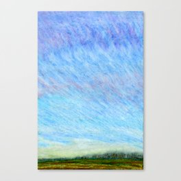 Pastel blue sky Canvas Print