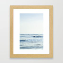 Waiting Out at Sea Framed Art Print