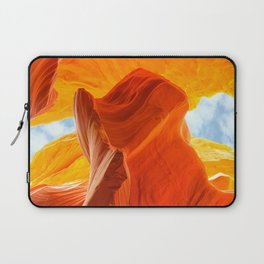 Antelope Canyon with Clouds Laptop Sleeve