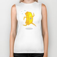 rush Biker Tanks featuring Gold Rush by Artistic Dyslexia