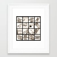 trumpet Framed Art Prints featuring trumpet by laika in cosmos
