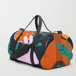 Music and a little rabbit Duffle Bag