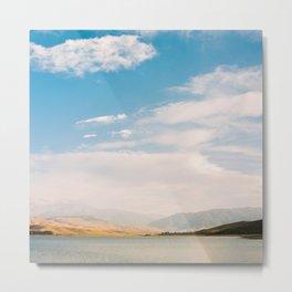 Mountain and lake view Metal Print