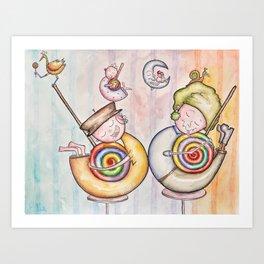 Sugar Addicts Take a Nap Art Print
