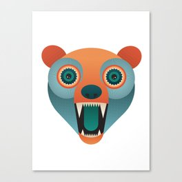 Geometric Bear Canvas Print