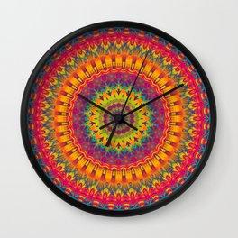 Mandala 073 (Neon) Wall Clock