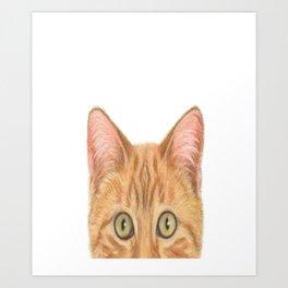 Orange Tabby Cat Shirt - Gift For Cat Lovers Art Print