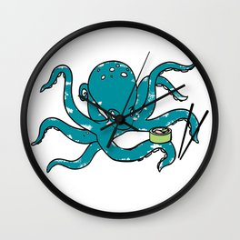 Hungry Octopus Wall Clock