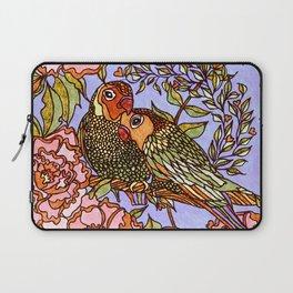 Lovebirds With Peony Wreath Laptop Sleeve