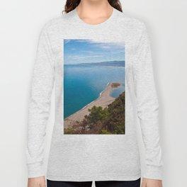 White Lagoon of Tindari on the Isle of Sicily Long Sleeve T-shirt