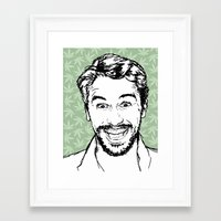 james franco Framed Art Prints featuring Franco by naidl