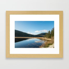 autumn in the mountains Framed Art Print