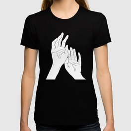 Hands minimal line drawing T-shirt