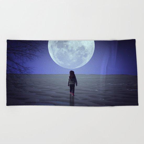 Moon alk Beach Towel