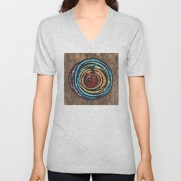 Abstract Mosaic Color Wheel Unisex V-Neck