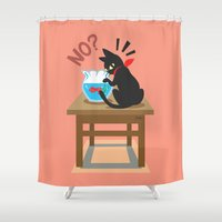 goldfish Shower Curtains featuring Goldfish by BATKEI (Keiko W)