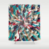 weird Shower Curtains featuring Weird Surface by Danny Ivan