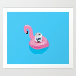 FLAMINGO LITE Art Print