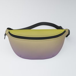 Pantone Chive Blossom Purple 18-3634 and Sulphur Spring Green 13-0650 Ombre Gradient Blend Fanny Pack