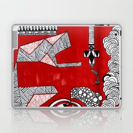 Red Abstract Composition Laptop & iPad Skin