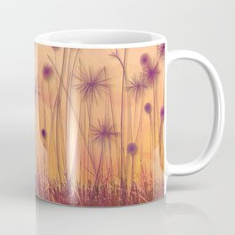 Dreamy Violet Dandelion Flower Garden Coffee Mug