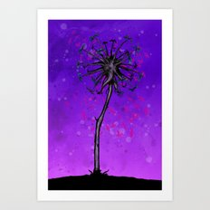 Dandelion Tree Art Print