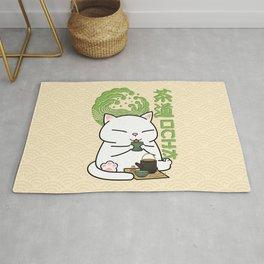 Chubby Cat Green Tea Chado Rug