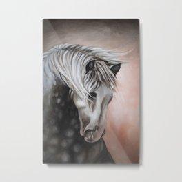 Lusitano Horse Oil Study Metal Print