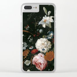 Antique Botanical I Clear iPhone Case