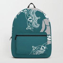 Meditation Buddha Mandala - turquoise Backpack