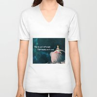 le petit prince V-neck T-shirts featuring Le Petit Prince by SmallWheel
