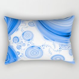 Baby Blue Bubbles in an Ozone Sky of Cloudy White Rectangular Pillow